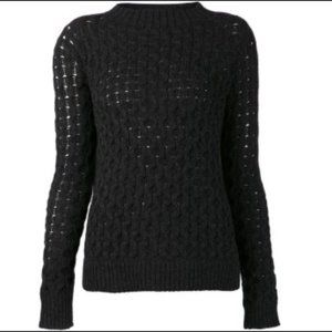 Theory Black Koralyn Loryelle Textured Sweater
